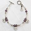 Joy Sister Love Personalized Charm Bracelet