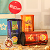 Jute bag with 3 Cans of Roasted Dryfruits with Tikka