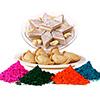 Kaju Barfi with Gujiya and  Holi Colors