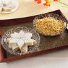 Kanha Badam Barfi & Sev Bhujia With 2 Glass Serving Bowls