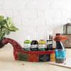Kaya Kalp Hair Care Essentials & Handpainted Wooden Tray Hamper