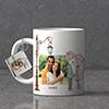 Kiss Under the Lampost Personalized Keychain & Mug Combo
