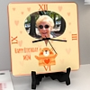 Kitty love for Mom Personalized Birthday Square Clock
