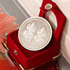 Laxmi Ganesha Silver Coin 50 Gms