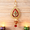 Leaf Shaped Metallic Ganesha Hanging