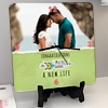 Loading a New Life Personalized Wedding Clock