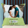 Loading a New Life Personalized Wedding Cushion