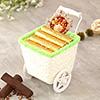 Log Basket of Chocolate with Tikka
