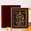 Lord Ganesha 22 Carat Gold Wall Decor