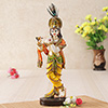 Lord Krishna Resin Idol Playing Flute