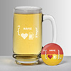 Love Beer Personalized Beer Mug with Magnetic Bottle Opener