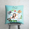 Love Eat Travel Personalized Birthday Cushion