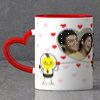 Love Forever Personalized Heart Handle Mug