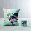 Love is All Around Personalised Cushion & Mug Hamper