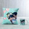 Love is All Around Personalized Cushion & Mug Hamper