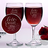 Love What You Do Set of Two Wine Glasses