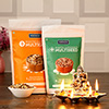 Majestic Ganesha Diya with Roasted Multigrain & Multiseed in a Gift Bag