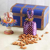 Marble Ganesha Idol With 100g Almonds in a Wooden Box