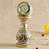 Marble Vase With Enamel Pillar Clock
