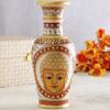 Meena and Kundan Work Lor Budha Marble Vase