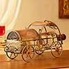 Metal Chariot Wine Bottle Holder