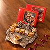 Metal Laxmi Ganesha Puja Thali with Sugarfree Figberry & Nutberry