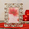 Metal Photo Frame with Floral Design
