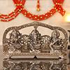 Metallic Idol of Laxmi Ganesha And Saraswati