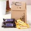 Mini Toblerone & Snicker Chocolate Bars in a Goodie Bag