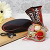 Mini X6 Speaker with Bravo Chocolates & Traditional Tikka Holder