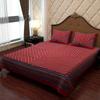 Modern Art Cotton Bed Sheet in Crimson