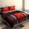 Modern Print Crimson Bed Set