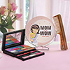 Mom is Wow Personalized Comb with Mirror and Make-up Kit