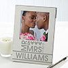 Mr and Mrs Personalized Picture Frame