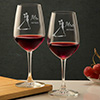 Mr. & Mrs. Engraved Personalized Wine Bordeaux Glass