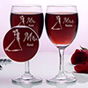 Mr & Mrs Personalized Wine Glasses (Set of Two)