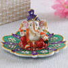 Multi-Colored Lord Ganesha Marble Show Piece