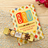 Multicolored Beads Rakhi with Greetings and Ferrero Rocher