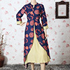 Multicolored Cotton Long Kurti
