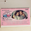 Music of Love Personalized Anniversary A4 Desk Calendar