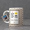 My Dad My King Personalized Birthday Keychain & Mug Combo