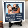 My husband is a hero Personalized Birthday Tile