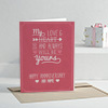 My Love Is Always Be Yours Personalized Anniversary Greeting Card