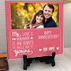 My love is always be yours Personalized Anniversary Tile