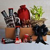Nescafe Sachets & Coffee Mug With Truffles & Good Luck Plant