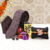 Om Rakhi with Tie & Cufflinks & Homemade Chocolates