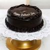 One Kg Round Shaped Dark Chocolate Cake