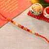 Orange Beads Ethnic Rakhi