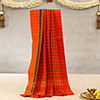 Orange Chequered Dhoti with Green Border