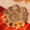 Panchmukhi Laxmi Ganesha Diya